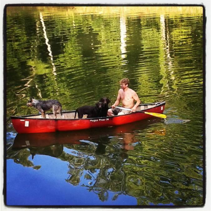 Pete's 1st canoe ride